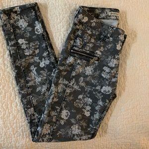 Stradivarius floral skinny jeans